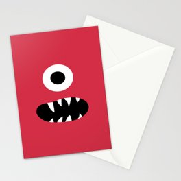 Kids Silly Red One Eyed Monster Stationery Cards