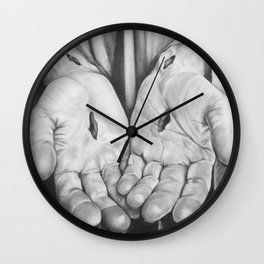 Jesus Hands Wall Clock