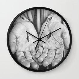 Jesus Hands Wall Clock