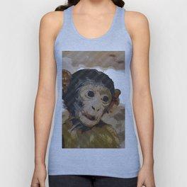 Halftone pixel fun Baby Monkey Unisex Tank Top