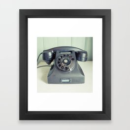 Old Rotary Telephone Framed Art Print