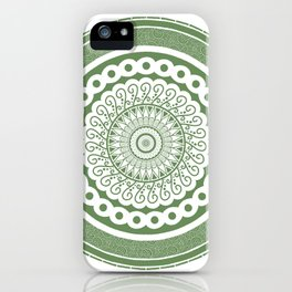 Green Circle Mandala iPhone Case
