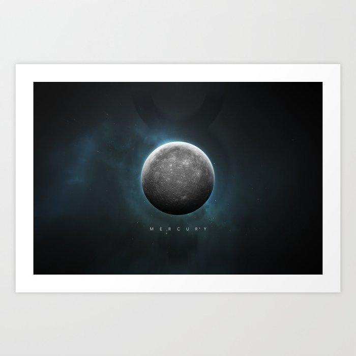 A Portrait of the Solar System: Mercury Art Print