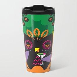 Owl get drunk Metal Travel Mug