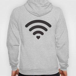 Love & WiFi - Black & White Hoody