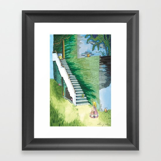 Princess Searching Framed Art Print
