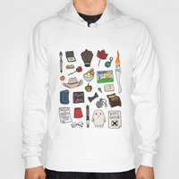doctor who Hoodies featuring Doctor Who by Shanti Draws