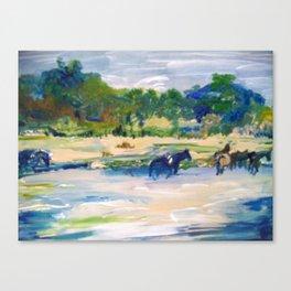 Chincoteague Horses painting Canvas Print