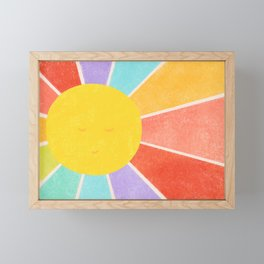Rainbow Sun Framed Mini Art Print