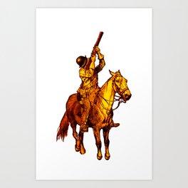 Horse Musket Soldier Art Print