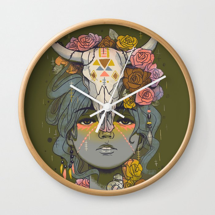 Desert Rose Wall Clock