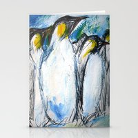 penguins Stationery Cards featuring Penguins by James Peart