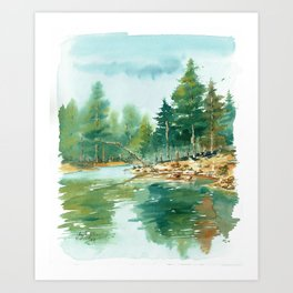 Bear Canyon Lake Art Print