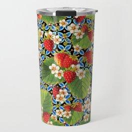 Strawberry Heraldic Travel Mug