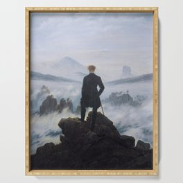 Wanderer above the Sea of Fog Serving Tray