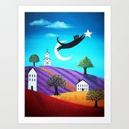 Hanging the Stars Art Print