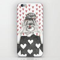 valentine iPhone & iPod Skins featuring Valentine by Sara Elan Donati