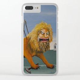 """The Voracious Manticore"" Clear iPhone Case"
