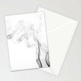 dark smoke beautiful shape Stationery Cards