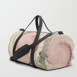 Multicolored mosaic in pink beige . Duffle Bag