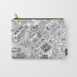 Cleveland Map Carry-All Pouch