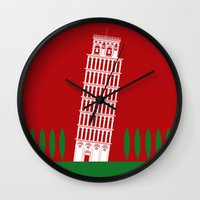 italy Wall Clocks featuring ITALY by Marcus Wild