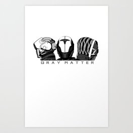 Fire Team Gray Matter Art Print