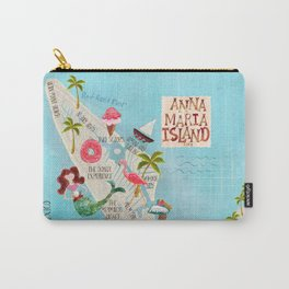 Anna Maria Island Map Carry-All Pouch
