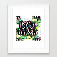 numbers Framed Art Prints featuring Numbers! by gasponce