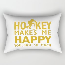 Hockey makes me happy Rectangular Pillow