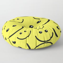 SMILEY FACE Abstract Art Floor Pillow