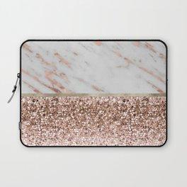 Warm chromatic - rose gold marble Laptop Sleeve