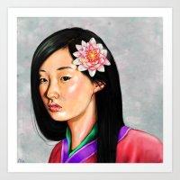 mulan Art Prints featuring mulan by Anja-Catharina