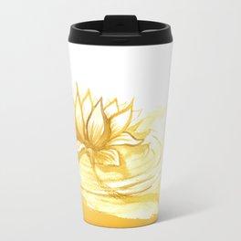 The Golden Lotus Travel Mug