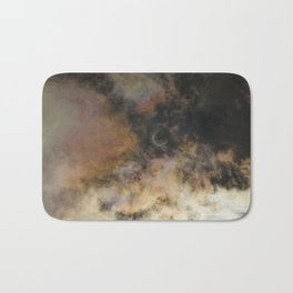 Solar Eclipse and Clouds Bath Mat