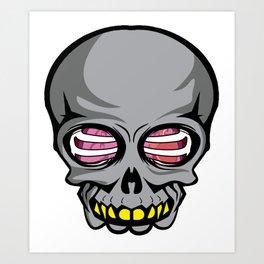 Skull skull ribcage offal gift Art Print