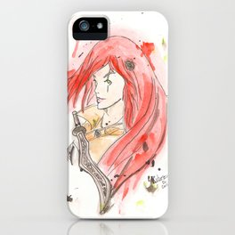 League of Legends - Katarina Watercolour iPhone Case
