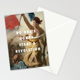 settle for a revolution Stationery Cards