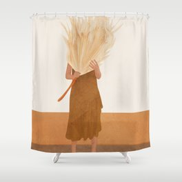 Dried Leaf Shower Curtain