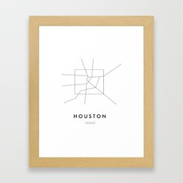 Houston, TX Framed Art Print