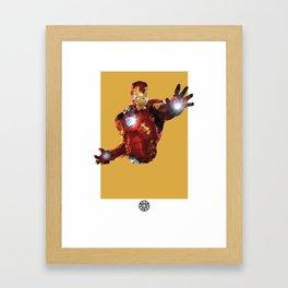 Iron Man Polygon Mesh Framed Art Print