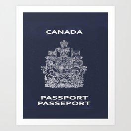 Canadian Passport Art Print