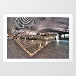 Liege station by Night  Art Print