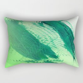 Green Smear Rectangular Pillow