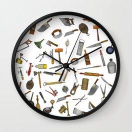 vintage utensils Wall Clock