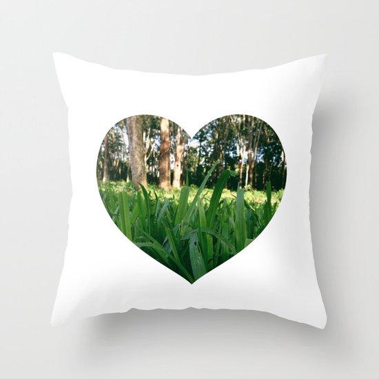Bed of Grass Throw Pillow