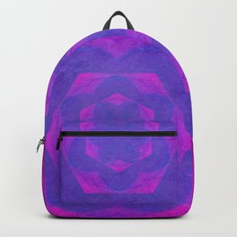 Hot pink and purple kaleidoscope with texture Backpack
