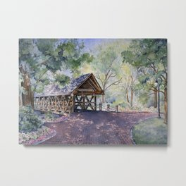 Naperville Covered Bridge in Spring Metal Print