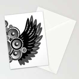 Abstract music illustration Stationery Cards