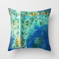 neverland Throw Pillows featuring Neverland by Tiny-firefly Art